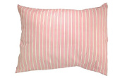 "100% Cotton TODDLER PILLOWCASE in ""Pink Stripes"" - Hypoallergenic - 200 Thread Count - Percale - Envelope Style - Super Soft - Fits all 12x16, 13x18, 13x19 Pillows - MADE IN THE USA"
