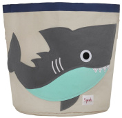 3 Sprouts Shark Storage Bin, Grey