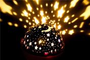 Mini Rotation Star Sky Romantic Luminous Light Kids Night Projector Room Decor