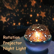 Rotation Night Projector Star Sky Kid Luminous Light Lamp Romantic Fairy Decor