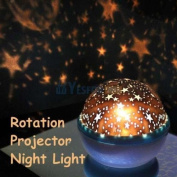 Rotation Night Projector Star Sky Kid Luminous Light Lamp Romantic Fairy Decor
