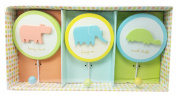 Baby Animals Wall Hooks, Set of 3