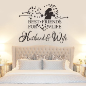 MLMSZ Best Friends for Life,wife & husband Art Quotes Removable Wall Stickers Decal Room décor