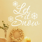 MLMSZ Let it go Christmas Snowflake Removable Vinyl Christmas Wall Stickers Mural Home Décor