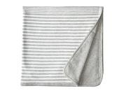 Vince Kids Stripe Blanket (Heather Steel) Accessories Travel