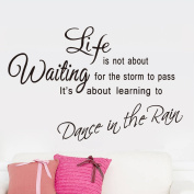 MLMSZ Life Is not About Waiting for the Storm To Pass Its Learning To Dance In The Rain Removable Vinyl Wall Decal Inspirational Quotes