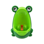 RGBZONE Boy's Baby Urinal - Perfect Cute Frog Training Potty for Boys with Funny Aiming Target - Green