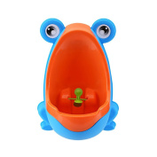 RGBZONE Colourful Frog Boys Potty Training Urinal with Whirling Target - Use a Baby Boy Urinal, Making It Fun, Easy Stress Free to Potty - Blue
