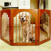 Free Standing Wood Pet Gate - Cherry