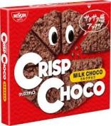 Nissin Milk Wheat Snacks, Crisp Chocolate