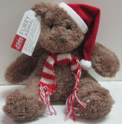 P. Graham DUNN Santa Christmas Cuddly Adorable Soft Teddy Bear w/Scarf Furry Animal