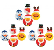 Christmas Holiday Rubber Ducky - 12 Count