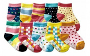 B & S FEEL Baby's 10-pair Printing Quarter Socks Set