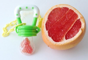 New Baby Food Feeder Soother Teether for Eating Fresh Fruit Vegetables Meat Choke Free From Pickabest Product. Safe High Quality Storage Container Silicone Nipple. Bonus Pacifier Clip. Green. Enhance Baby's Eating Experience Now
