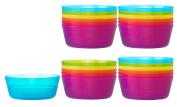 Ikea Kalas BPA-Free Bowl, Assorted Colours, Set of 4, 6 Pack