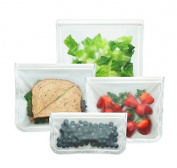 BlueAvocado 4 Piece (re)zip Seal Essential Set Bag, Clear