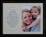 8x10 TO MY GODMOTHER Photo & Poetry Frame ~ Holds a Portrait 5x7 Picture BAPTISM Frame