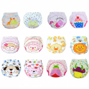 12 Pcs Baby Boys Girls Toddler Toilet Pee Potty Training Pants Cartton Underwear Size L