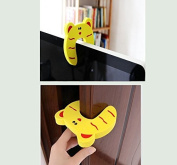 Yosoo Cartoon Baby Finger Protector Jammers Door Card Clip Security Stop Door Stopper Lock Finger Pinch Guard Safety Drawer Toilet Cupboard Cabinet for Baby Kid Child Toddler - Mixed Colour