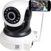 VideoSecu Audio Video Baby Monitor IP Wireless Day Night Vision Security Camera with Pan Tilt Wi-Fi for iPhone, iPad, Android Phone or PC Remote View BKW
