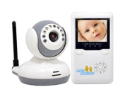 ZTOP®6.1cm Rechargeable Wireless 2.4 GHz Digital Video Baby Monitor With Night Vision, Talk to Baby Two-way Intercom, Zoom In/Out, Auto Scan Working Cameras, 4 Channels