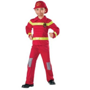 Totally Ghoul Muscle Fire Fighter Costume, Boys Size Small, Ages 3+