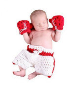 Lanue® Baby Newborn Boxing Crochet Knitted Costume Glove Pants Photo Photography