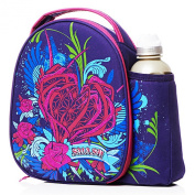 Smash Childrens Girls Floral Thorn Heart Lunch Bag And Water Bottle Set (One Size)