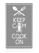 Keep Calm And Cook Quote Art Light Switch Plate