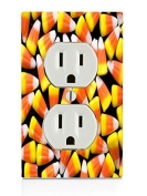 Candy Corn Design Electrical Outlet Plate
