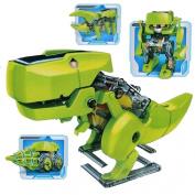 Malloom DIY Assemble 4 In 1 Solar Dinosaur Robot Machine Kit Action Figuress