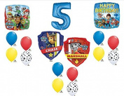 Paw Patrol Happy 5th Birthday Balloon Set