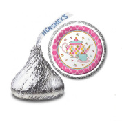 216 Tea Party Labels/Stickers for Hershey's Kisses Candies - Party Favours