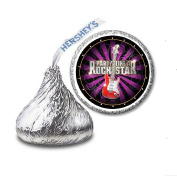 216 Party Like a Rock Star Labels/Stickers for Hershey's Kisses Candies - Party Favours