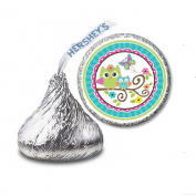 216 Owl Labels/Stickers for Hershey's Kisses Candies - Party Favours