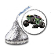 216 Monster Truck Labels/Stickers for Hershey's Kisses Candies - Party Favours
