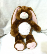 Build a Bear Workshop 41cm Brown Bunny Rabbit Plush w/Pink Floppy Ears