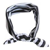 Aivtalk Baby Toddler Headband Striped Rabbit Ear bow Hairband Black