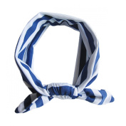 Aivtalk Baby Toddler Headband Striped Rabbit Ear bow Hairband Blue