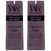 Twin Pack (2 x 4 Pack) Woodwick Home fragrance Wax Melts - Vineyard Nights