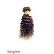 Virgin hair 20cm Mongolian kinky virgin Human Hair 1B
