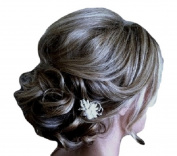 New Style Hair Extensions Curly Messy Drawstring Updo Full Bun In Brown Grey Mix