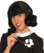 Fancy Party Headwear Womens Mid Length Flick Up 60's Style Wig With Frings