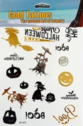 Flash Tattoos Halloween, Gold Silver fluorescent, halloween tattoos, temporary Tattoo funny W370 - LK Trend & Style