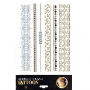 Tattoo Sticker Skin Tattoo Body Tattoo Temporary Tattoo Tattoos Metallic Designs - Motif 6