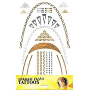 Tattoo Sticker Skin Tattoo Body Tattoo Temporary Tattoo Tattoos Metallic Designs - Motif 5
