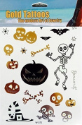 Flash Tattoos Halloween, Gold Silver fluorescent, halloween tattoos, temporary Tattoo funny W372 - LK Trend & Style