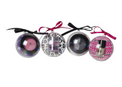 S & S 4pc Beauty Bauble - 4 Fab hanging decorations + Nail Varnish, Blusher, Duo Eyeshadow, 3 Pot Shimmer Gift Set
