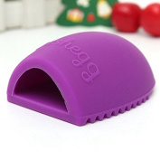 Silicone Brush Cleaner makeup cleaner cleaning brush brush cleaning in the colour purple of the brand MyBeautyworld24