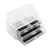 AllRight Transparent Cosmetic Case Make Up Organiser With Drawers 4 Drawer Style B